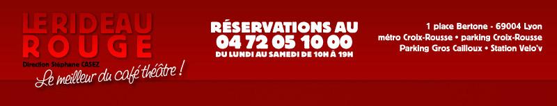 Faites l'amour, pas des gosses ! Café théâtre le rideau rouge à Lyon Header